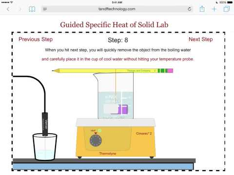 Guided Specific Heat of A Solid