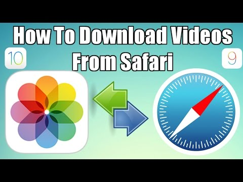 How To Download Videos From Safari To Camera Roll No Jailbreak  No Computer iOS 10 and TechnoTrend