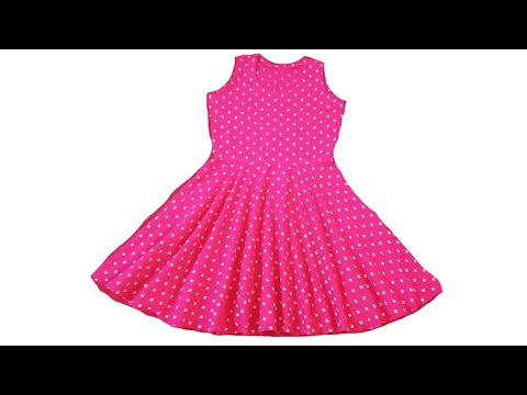 Baby circle Frock cutting and stitching