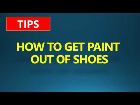How To Get Paint Off shoes | How To Get Paint Out Of Shoes | White Shoe Paint