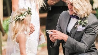 OUR WEDDING VIDEO!!! WILL MAKE YOU CRY! *Vows to 4 year old daughter*
