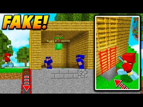 FAKE GENERATOR LADDER TRAP! - Minecraft BEDWARS TROLLING (NO WAY OUT!)