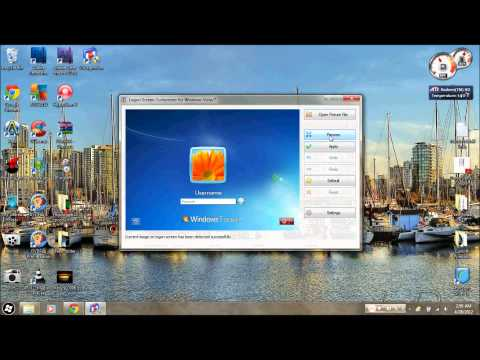 how to change logon screen windows 7