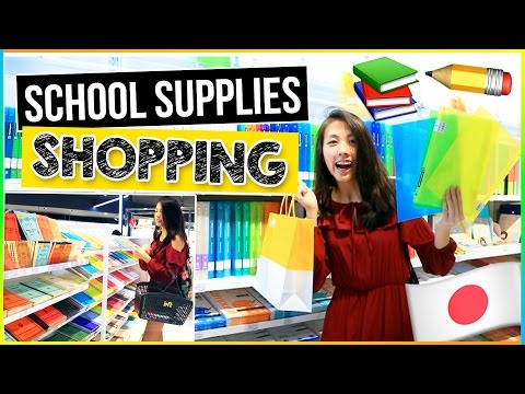 ✐ Back to School Supplies Haul 2016-2017 | Shop with Me in TOKYO, JAPAN Shopping Vlog!