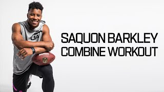 Saquon Barkley's Ridiculous Workout 💪| 2018 NFL Combine Highlights