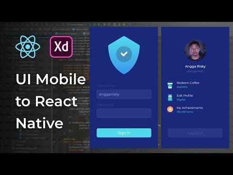 Profile UI Design Adobe Xd to React Native Tutorial