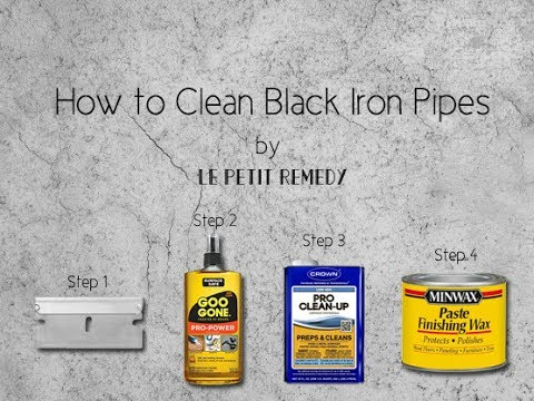 How to Clean Black Iron Pipes