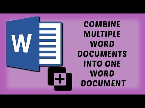 Combine Multiple Word Documents into One Word Document | Easy Tutorials In Hindi