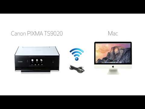 Canon PIXMA TS9020 - Wireless Setup with a USB Cable on a Mac