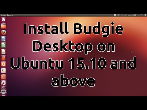 Install Budgie Desktop on Ubuntu 15.10 and above