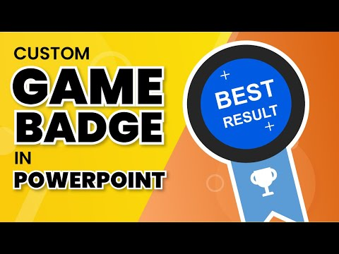 How to create a badge in Power Point