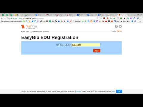 Setting Up EasyBib Edu Account (2017)