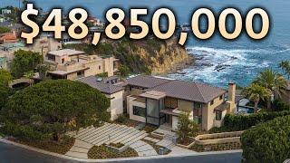 Touring a $48,850,000 Cliffside OceanFront California MEGA MANSION
