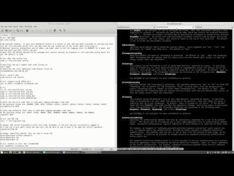sshd_config options for SSH server on Ubuntu Server #19