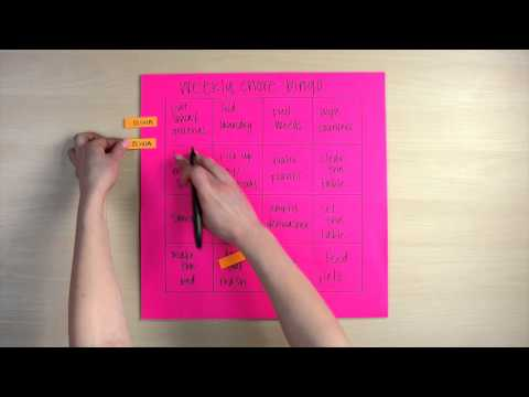 How to Make a Post-it Note Chore Chart