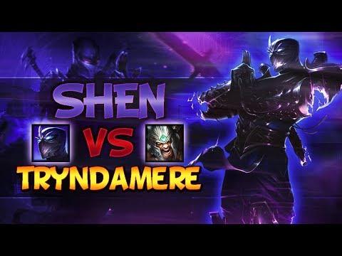 Shen VS Tryndamere - Top Lane Season 8 [SHEN MAIN] - League Of Legends