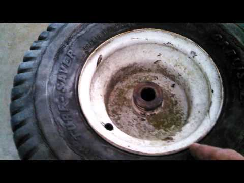 How To Install Tire Valve Stem On A Tubeless Lawn Mower Tractor Tire