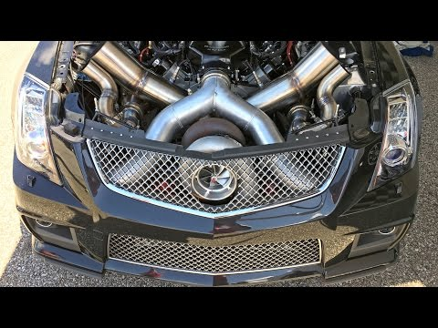 FASTEST Cadillac CTSV in the World - 106mm TURBO!