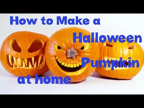How to Make a Halloween Pumpkin at home
