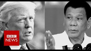Trump vs Duterte - who said what? - BBC News