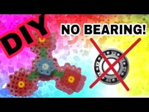 DIY  Perler bead Fidget Spinner | NO BEARING!!