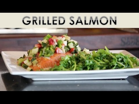 Grilled Wild Caught Salmon With Strawberry Salsa