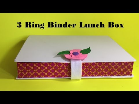DIY Lunch Box /How to Make a Lunch Box using 3 Ring Binder  School Supplies  #02
