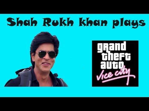 Shah Rukh Khan in GTA Vice City funny gameplay video in Hindi - वाईस सिटी हिंदी में