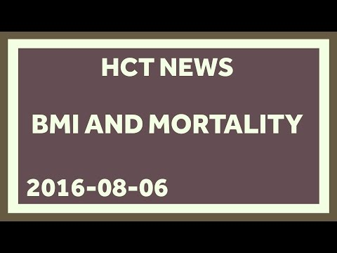 High BMI is Associated with Higher Mortality. And so is Low BMI.