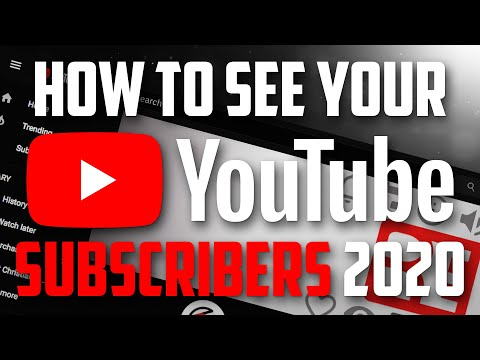 How to See Your YouTube Subscribers 2018
