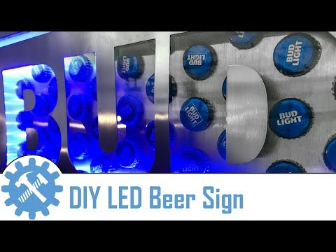 DIY Neon Beer Sign Using LED Lights and Woodworking Tools
