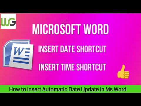 How to insert today's date in ms word with shortcut key in hindi