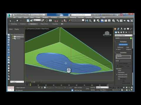 Creating cove ceiling based on a line using poly modeling in Autodesk 3ds max