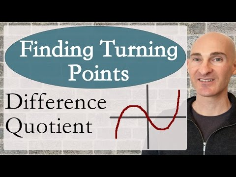 Finding Turning Points Using Difference Quotient