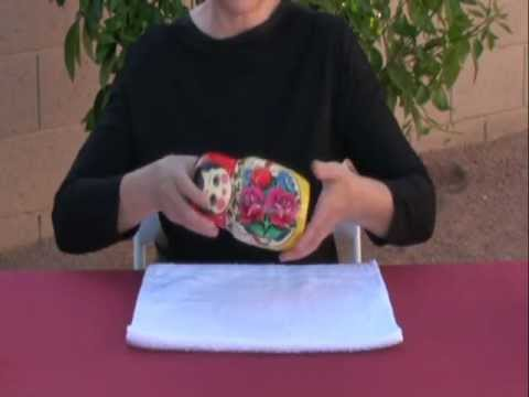 How to open large Russian matryoshka nesting doll