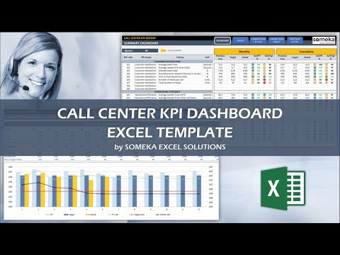 Call Center KPI Dashboard | Ready-To-Use Excel Template
