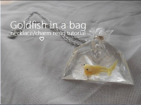 DIY: Goldfish in a bag necklace