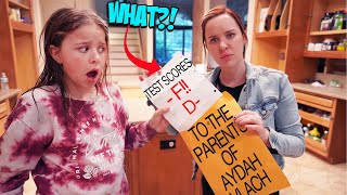 AYDAH GETS A TERRIBLE REPORT CARD IN SCHOOL!? GROUNDED FROM iPHONE!!