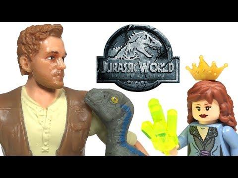 Jurassic World Owen & Baby Blue Raptor Action Figure Pack Review