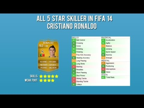 FIFA 14 | All 5* Skiller + In game stats