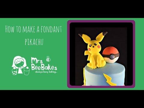 How to make a fondant Pikachu cake topper