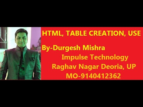 HTML Lecture 13 in Hindi