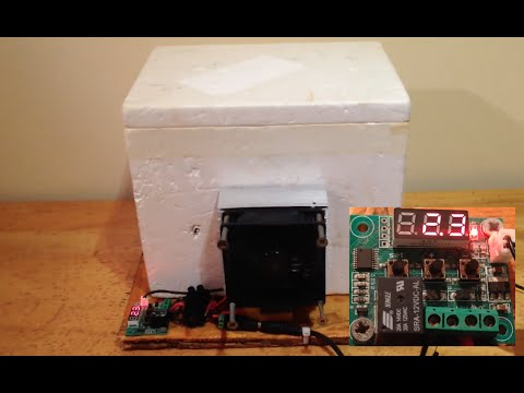 Temperature-controlled Peltier Mini Fridge (Thermoelectric)