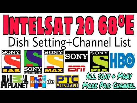 Intelsat 20 | 68E Dish setting and channel list | sony and other paid channels free | C band