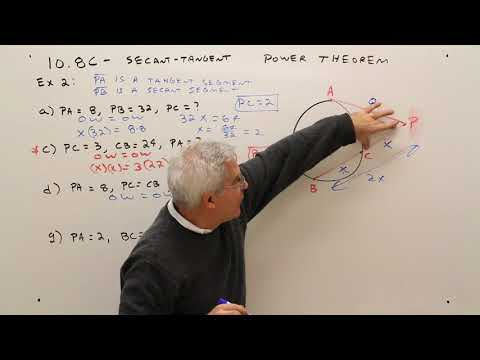 10.8C--Secant Tangent Power Theorem