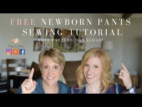 DIY: Upcycled Newborn Prop Pants: Tutorial and Free Sewing Pattern