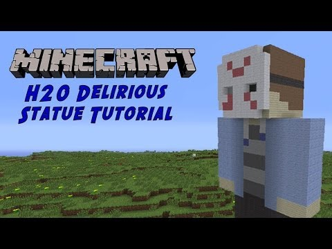 Minecraft Tutorial: H20 Delirious (GTA Character) Statue