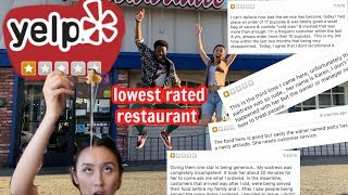 WE GO TO THE WORST REVIEWED RESTAURANT IN LA