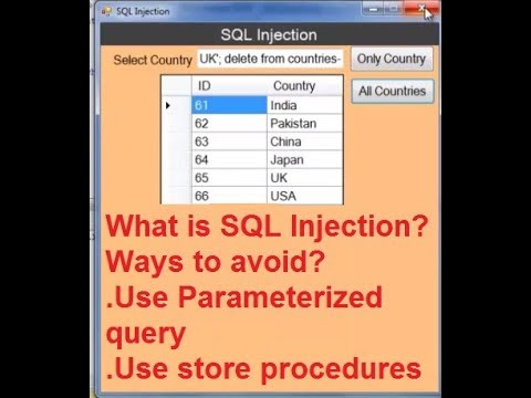 sql injection attack in vb.net and sql server