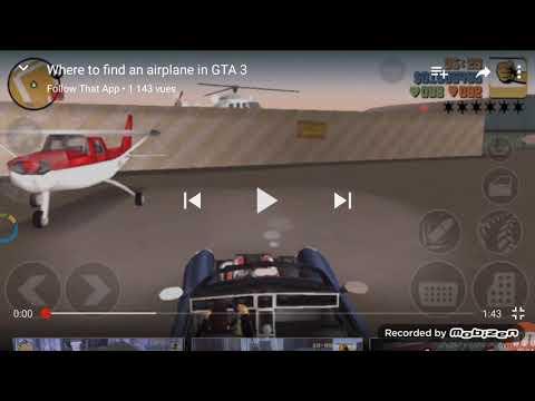 Comment avoir un avion sur gta 3✈🚁🚀
